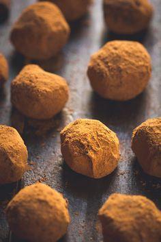 Boozy Dark Chocolate and Orange Truffles