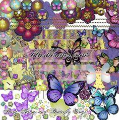 Fairy Things & Butterfly Wings Digital Scrapbooking Kit