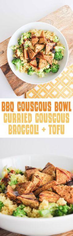 BBQ Couscous Bowl | http://ElephantasticVegan.com