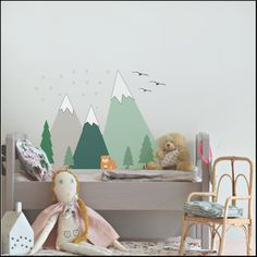 "Image of ""Snow Mountain"" Wall Sticker (IVA INCL.)"
