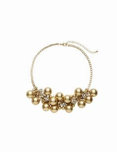 The Limited - Short Metal Bauble Necklace from THELIMITED.com #ItsTime