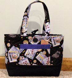 97f125486e0f Lucky Bingo Cotton Small Tote Bag Carry all your Bingo Supplies in One Bag