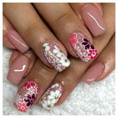 Pretty spring nails, simple and cute