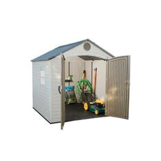 Costco Lifetime 10 Ft X 8 Ft Outdoor Storage Shed Backyard Idea Pinte