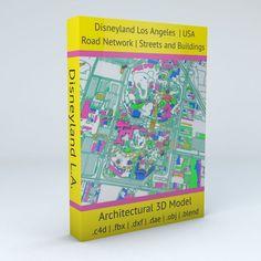 Disneyland Los Angeles Road Network Buildings and Streets | 3D model