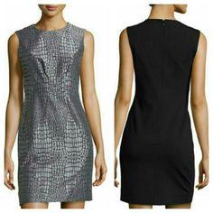 Dvf Metallic Alligator Print Dress