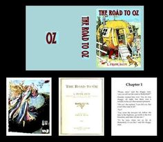 1:12 MINIATURE BOOK THE ROAD TO OZ