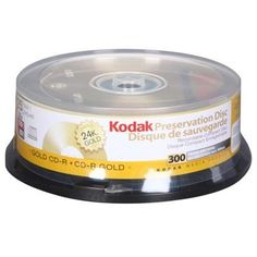 Kodak 52x Gold Preservation Write-Once CD-R ( 25 pack ) by Kodak. $60.90. Kodak 52X  CD-R 80 25 Pack Gold CD-R