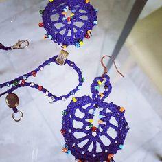 Crochet Earrings Pattern PDF Tutorial Crochet Wedding   Etsy Free Form Crochet, Crochet Necklace Pattern, Crochet Skull, Crochet Gloves Pattern, Crochet Baby Dress Pattern, Crochet Diy, Crochet Faces, Beaded Earrings Patterns, Easy Crochet Patterns