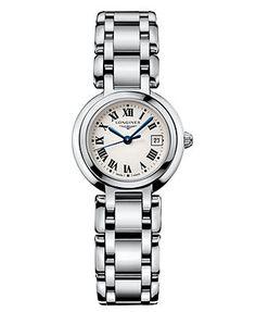Longines Watch, Women's Swiss PrimaLuna Stainless Steel Bracelet L81104716