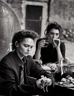 Sasha Pivovarova and Steffy Argelich by Peter Lindbergh for Vogue Italia May 2015
