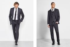 Find the right suit color for your look with our simple guide to men's wedding suits, complete with tips and inspiration for choosing wedding suits for men. Celebrity Wedding Photos, Celebrity Weddings, Wedding Men, Wedding Suits, Black Tux, Groom Outfit, Mens Suits, Celebrities, Outfits