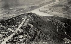 Lookout Mtn 1940's View of Point Lookout. Lookout Mountain, Tennessee.