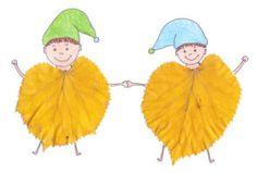 Panáčikovia z listov Preschool Crafts, Fun Crafts, Diy And Crafts, Arts And Crafts, Autumn Activities For Kids, Fall Crafts For Kids, Autumn Crafts, Leaf Art, Autumn Leaves