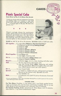Grand National Recipes From Pillsbury's 6th Grand National Bake Off 1955
