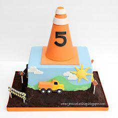 Jessicakes: Construction Birthday Cake