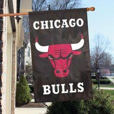 CHICAGO BULLS APPLIQUE BANNER FLAGS