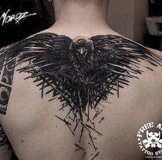 Image result for the crow back tattoo