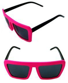 Men s Women s Square Shape Retro Vintage Sunglasses Matte Black Pink 80s  Hip Hop 591ddc49fdf5