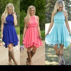 2016 Cheap Country Beach Turquoise Bridesmaid Dresses Chiffon Royal Blue Coral Short Wedding Guest Wear Party Dresses Maid Of Honor Gowns Wedding Party Dresses White Bridesmaid Dresses From Haiyan4419, $72.37| Dhgate.Com