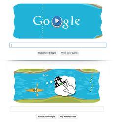 Google canoe... https://www.google.com/doodles/slalom-canoe-2012
