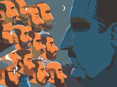 Revue XXI, Sur le chemin de Damas by Vincent Mahé, via Behance