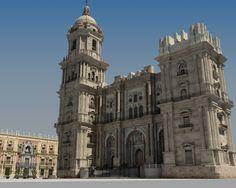 """Catedral de Málaga, 'la Manquita'. En ella ofició misa el actor, disfrazado de arzobispo, Robert de Niro en el film """"El puente de San Luís Rey""""."""