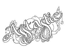 Asstastic -  Coloring Page by Colorful Language © 2015.  Posted with permission, reposting permitted with attribution.  https://www.facebook.com/colorfullanguageart