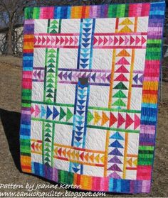 Flying Geese Quilt Pattern Instructions | Photo via Canuck Quilter Designs