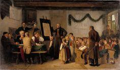 The School Exam, 1862 - Albert Anker - WikiArt.org