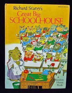 Vintage Richard Scarry Great Big Schoolhouse by RetroCentsStudio