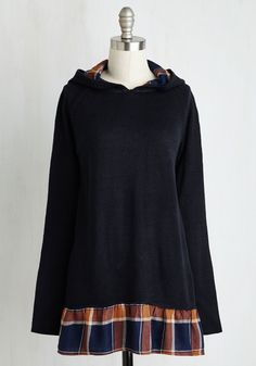 Certainly Centered Top. Absorb the tranquility of this navy top, and go about your day with an admirable essence of calmness. #blue #modcloth
