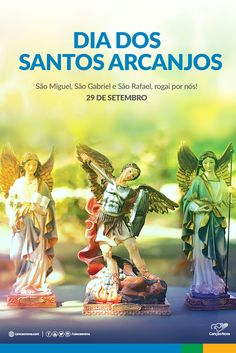 São Gabriel com Maria, São Rafael com Tobias, São Miguel com todas as hierarquias, abri para nós esta via.