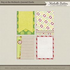 Quality DigiScrap Freebies: Day At The Orchard journal cards freebie from Michelle Batton