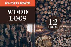 WOOD LOGS (12 Premium Photos) by PhotoMarket on Creative Market