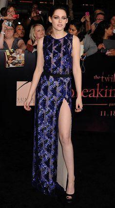 Kristen Stewart wearing J Mendel...LA Breaking Dawn Pt. 1 Premiere