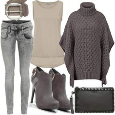 XTI Grey #fashion #mode #look #style #trend #outfit #sexy #luxury #stylaholic