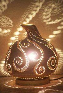 Gourd Lamp - International Gourd Art www.sukabagi.com