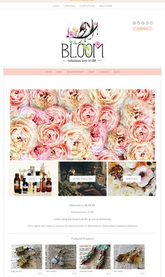 Love the colors and logo in this cute website design running on an Angie Makes Wordpress theme. Pretty!