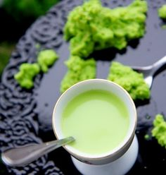 Kermit puré green and smooth! Can also be served as a soup <3