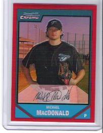 Michael MacDonald 2007 Bowman Chrome Red Refractor - #4/5 - Free Shipping