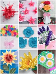 Paper Crafts Origami, Diy Paper, Tissue Paper Crafts, Paper Flowers For Kids, Making Tissue Paper Flowers, Tissue Flowers, Flower Bouquet Diy, Paper Bouquet Diy, Flower Diy