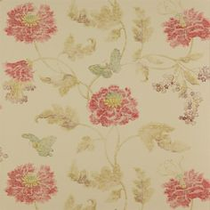 Colefax & Fowler, Summer Palace, Poppyj & Butterfly in Red/Sienna 07952/03
