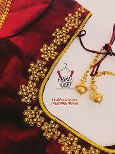 Cutwork Blouse Designs, Choli Blouse Design, Wedding Saree Blouse Designs, Pattu Saree Blouse Designs, Simple Blouse Designs, Stylish Blouse Design, Blouse Neck Designs, Mirror Work Blouse Design, Maggam Work Designs