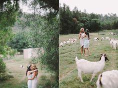 This entire wedding looks like it was a blast. I mean, look! Goats! Sydney Polo Club Wedding