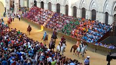 IL PALIO. Jul 02, 2015. Siena, Italy. Deeply religious in its roots, the Siennese honor the Virgin Mary at Il Palio. The horses race for only a minute-and-a-half, but the celebrating lasts for days.