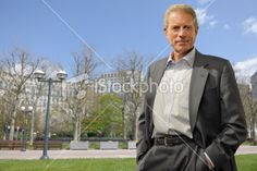smart mature businessman in city Royalty Free Stock Photo