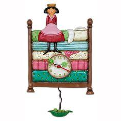 Princess Peapod Clock Art by Allen Designs