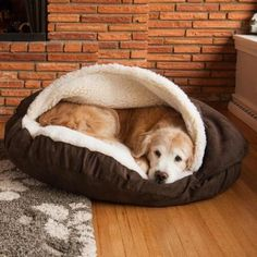 A cocoon-like pet bed to keep your bestie as cozy as you are. | 21 Things That Will Make Your Bedroom Even Cozier