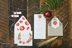 Fall Bohemian Wedding Inspiration | Apples and Rustic Fall Inspired Wedding Paper Goods | Lana's Shop